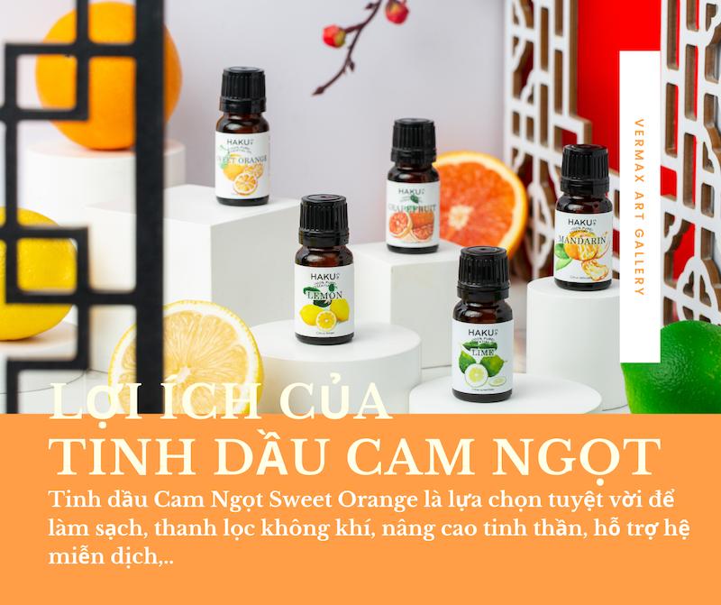 Lợi ích của tinh dầu cam ngọt