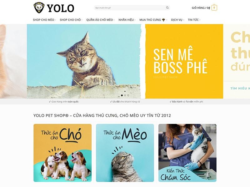 website ban thuc an phu kien online cua yolo